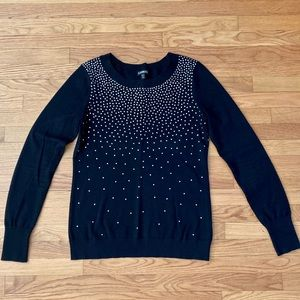 Express - Black Bedazzled Sweater